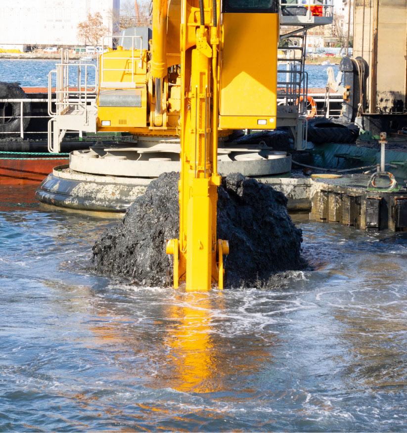 dredging material bayshore